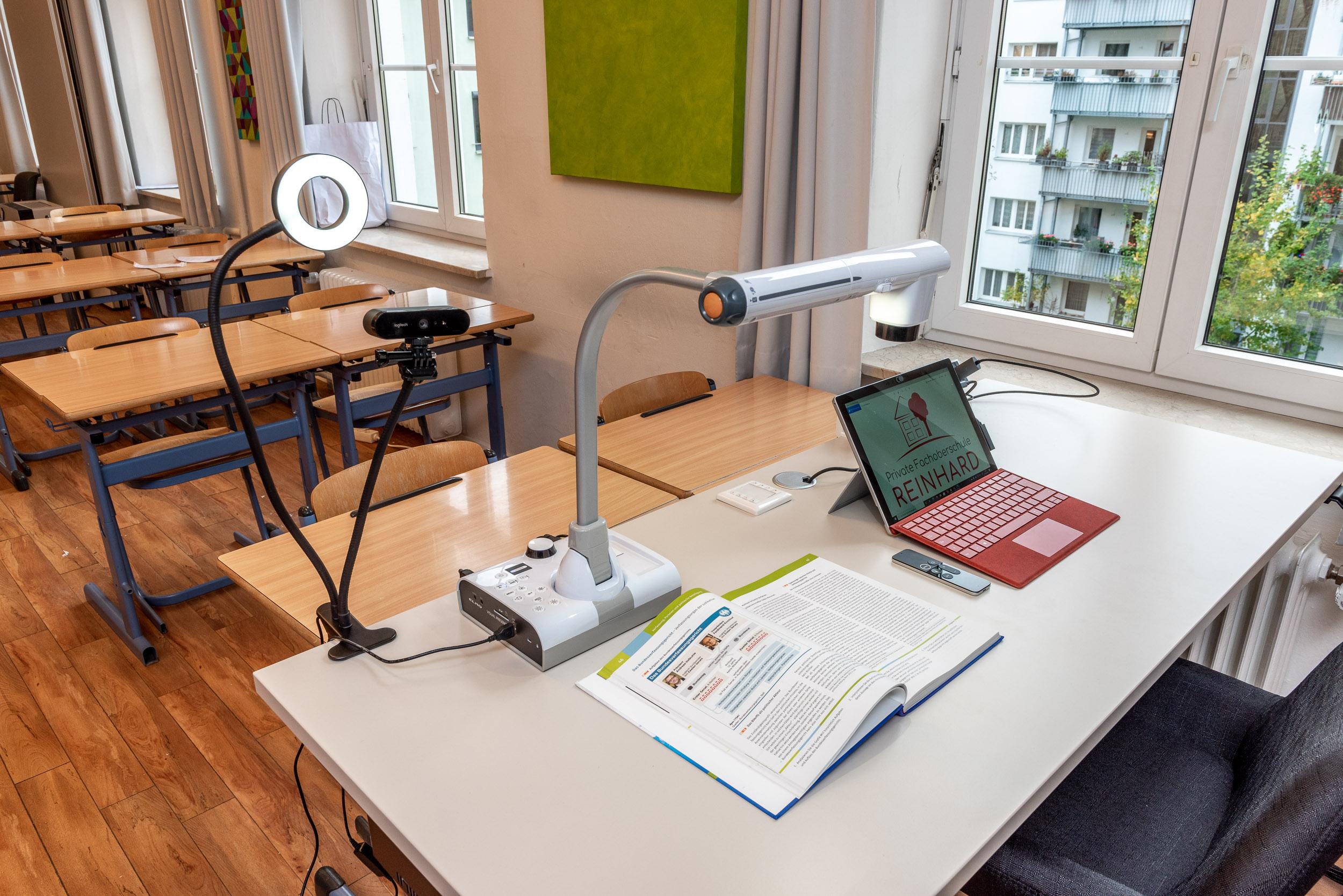 Technische Ausstattung im Klassenzimmer
